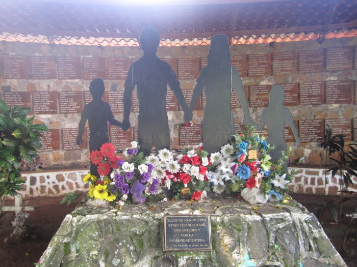 The memorial at El Mozote